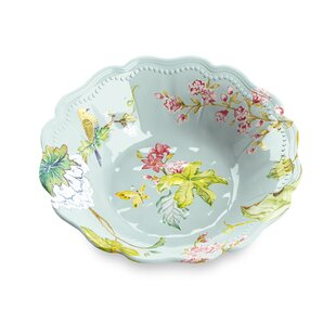 Lechner 22 oz. Spring Chinoiserie Dining Bowl (Set of 6)