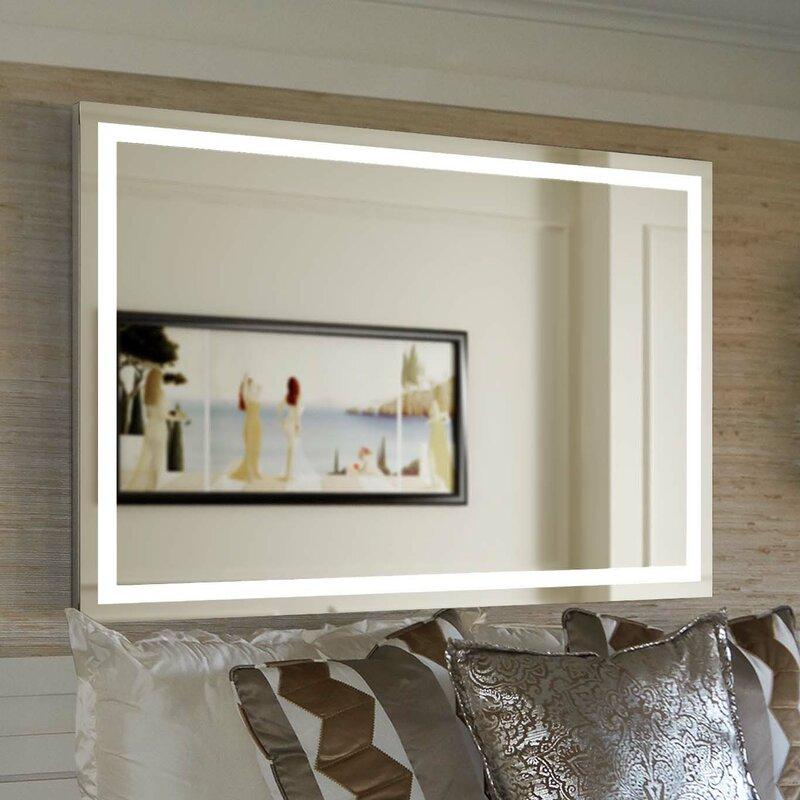 Aluminum Frame Electric Wall Mirror & Modern Lighted Bathroom Mirrors | AllModern azcodes.com
