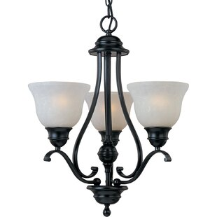 Price comparison Streator 3-Light Shaded Chandelier By Alcott Hill