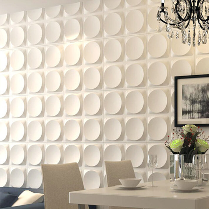 Orren Ellis Dishner 19 7 X 19 7 Vinyl Wall Paneling In White Wayfair