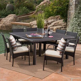 Kondo 9 Piece Dining Set with Cushions