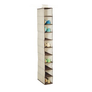 Read Reviews Celessence Crisp 10-Compartment Hanging Shoe Organizer ByRichards Homewares
