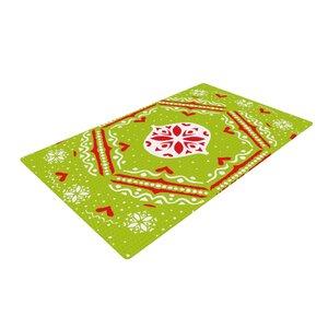 Miranda Mol Snow Joy Green/Red Area Rug