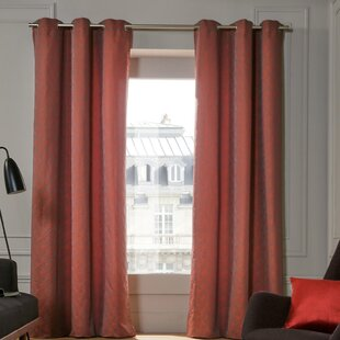 Confettis Solid Blackout Single Curtain Panel With Grommets
