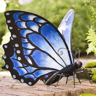 Large Metal Butterfly Statue