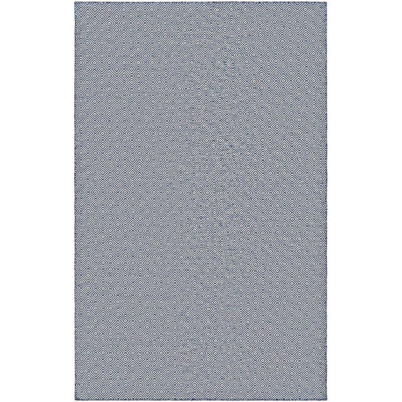 Arce Hand Woven Navy Blueivory Indooroutdoor Area Rug Reviews