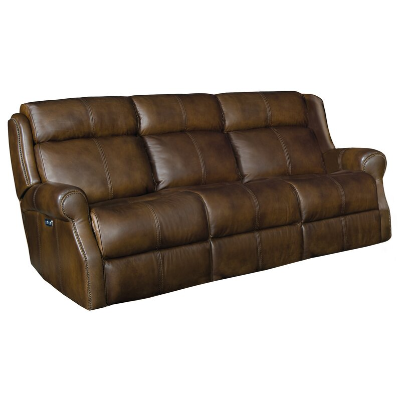 McGwire Leather Reclining Sofa