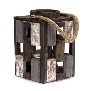 2 Piece Wood Lantern Set