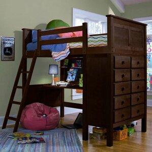 Kenai Twin Loft Bed w/Dresser by Epoch Design