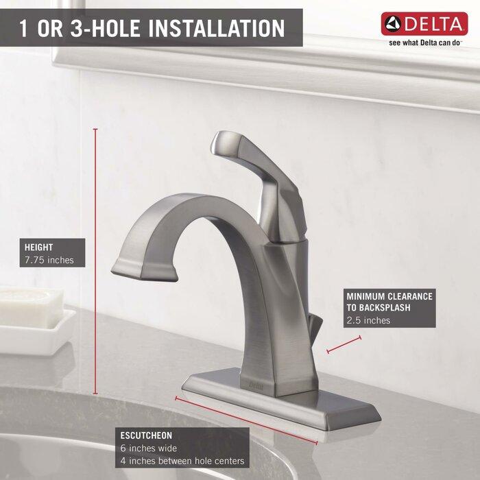 delta lavatory handle series r chrome single asp bathroom commercial prod teck hole faucet