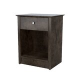 Metropolitan 1 - Drawer Solid Wood Nightstand in Deep Forest by Akin