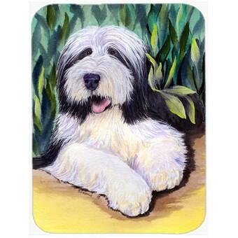 Caroline S Treasures French Bulldog At The Beach Glass Cutting Board Wayfair