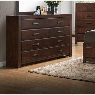 Longstreet 8 Drawer Double Dresser by Gracie Oaks 2019 Sale