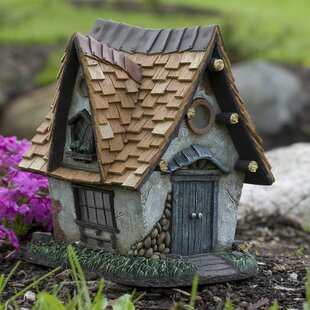 Cottage Crooked  Solar Home Statue by Echo Valley