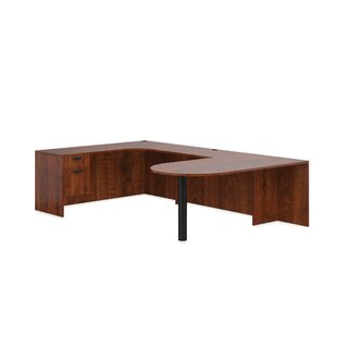 Superior Laminate 4 Piece L-Shape Desk Office Suite