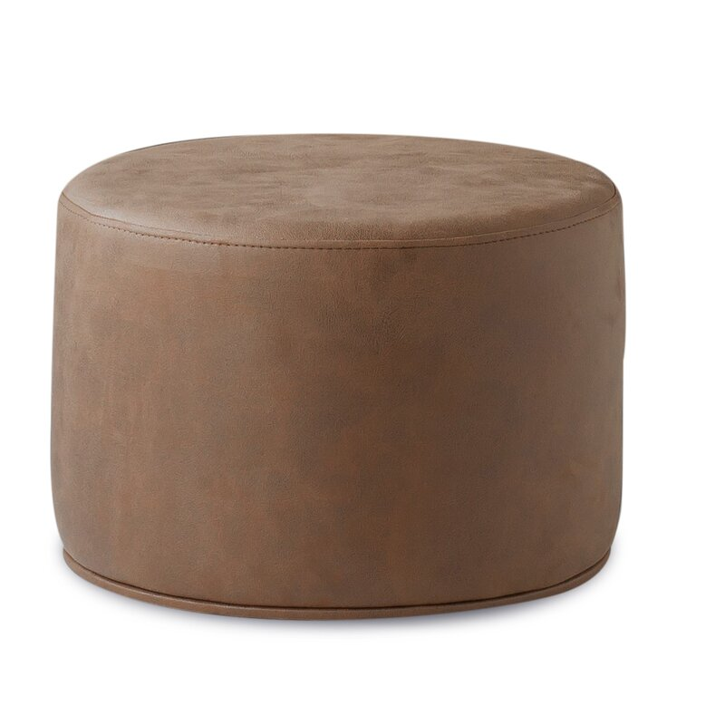 Sohoconcept Celine Leather Pouf Wayfair