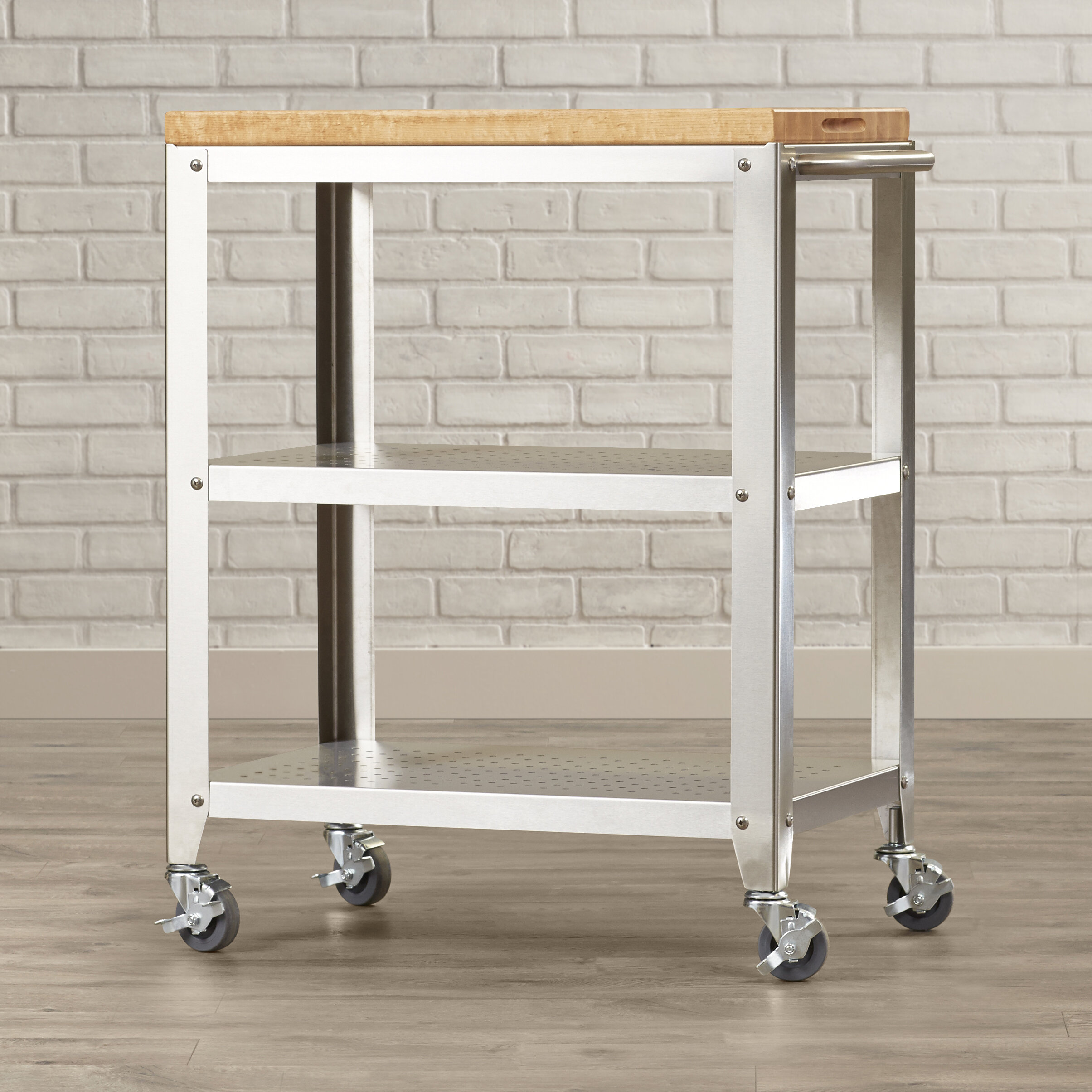 John Boos Cucina Americana Kitchen Cart With Butcher Block Top U0026 Reviews |  Wayfair