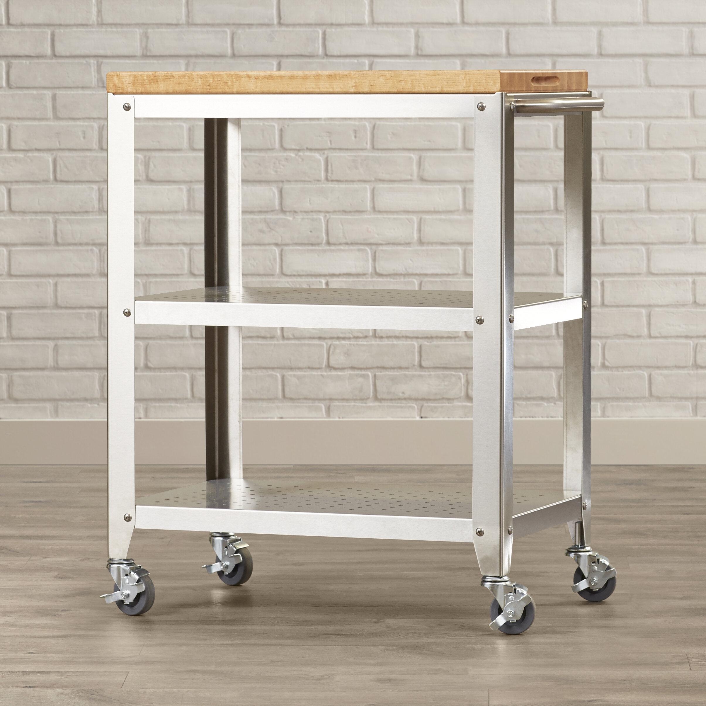 john boos cucina americana kitchen cart with butcher block top rh wayfair com butcher block kitchen cart ikea butcher block kitchen cart ikea