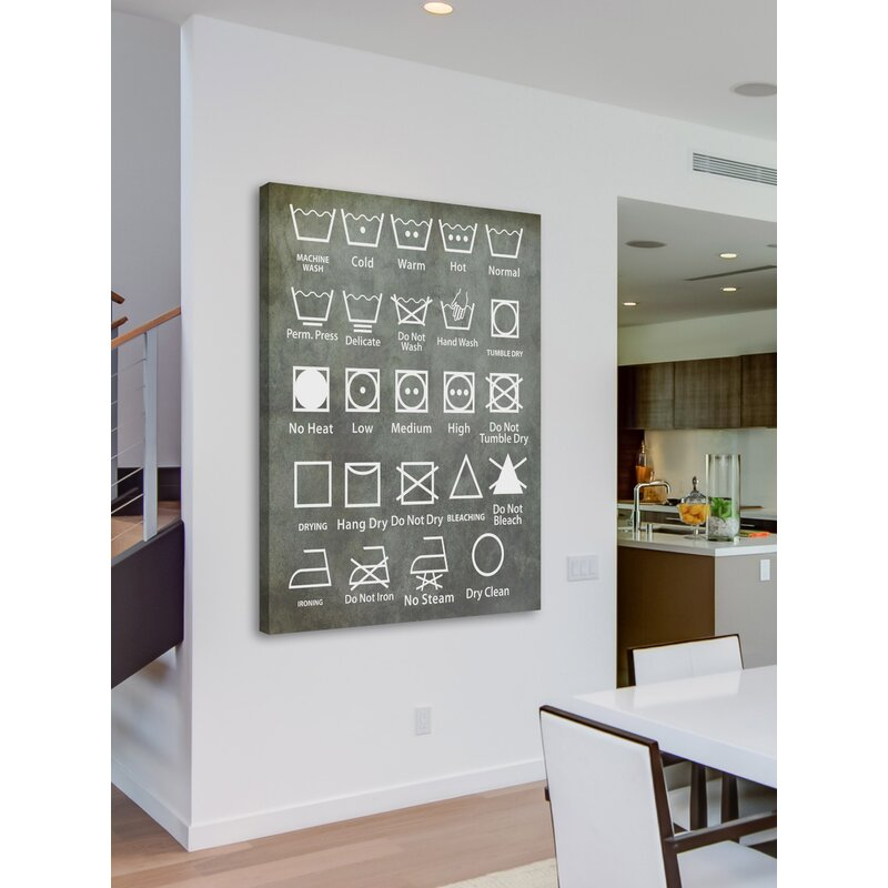 'Laundry Symbols' by Diana Alcala Painting Print on Wrapped Canvas