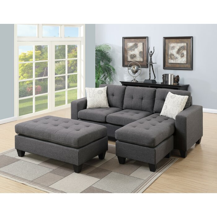 Astonishing Ithaca Reversible Sectional With Ottoman Pabps2019 Chair Design Images Pabps2019Com