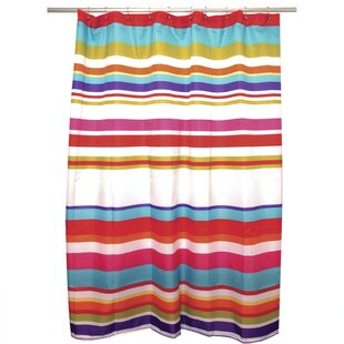 Happy Stripe Single Shower Curtain