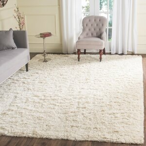 Zulte Hand-Knotted Ivory Area Rug