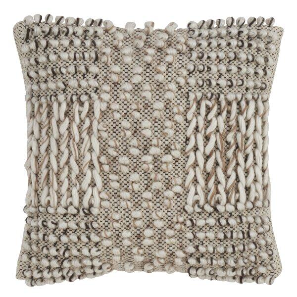 Bungalow Rose Warriner Braided Design Moroccan Cotton Down Geometric Throw Pillow Wayfair