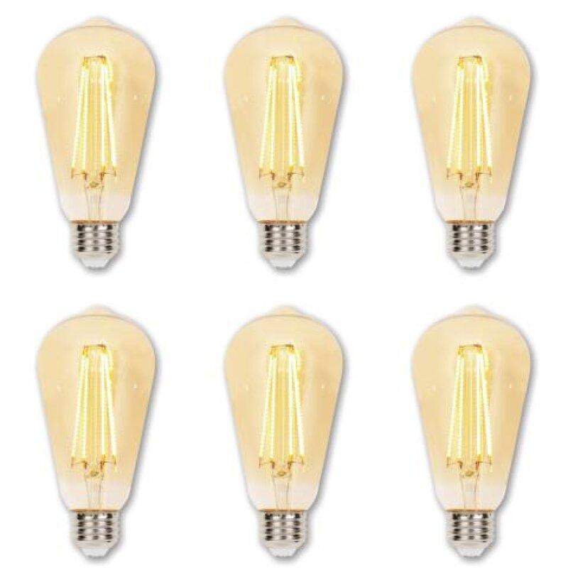 Westinghouse Lighting 6 5 Watt 60 Watt Equivalent St20 Led Dimmable Light Bulb Warm White 2200k E26 Medium Standard Base Reviews Wayfair