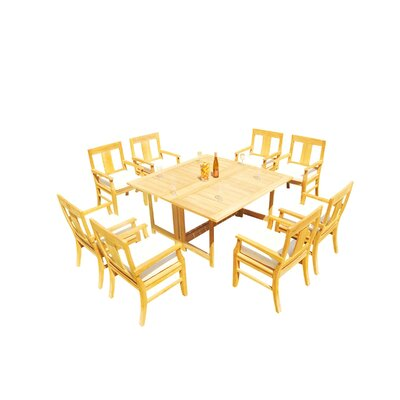 Kevon 9 Piece Teak Dining Set by Rosecliff Heights Herry Up