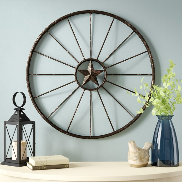August Grove Rustic Wagon Wheel Wall Decor Reviews Wayfair