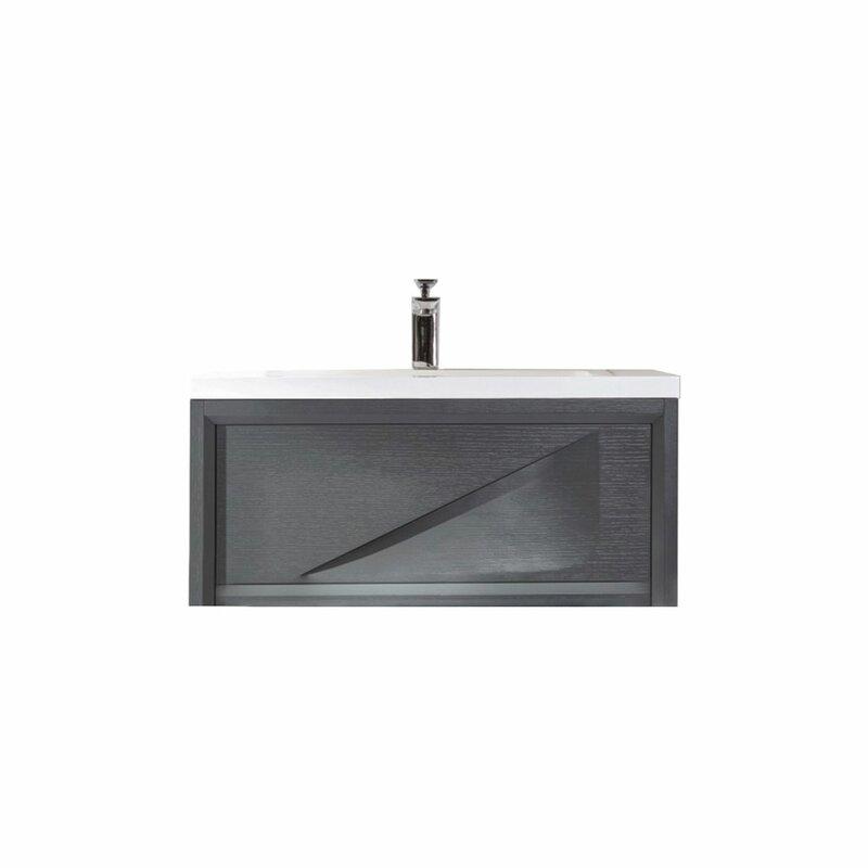 Orren Ellis Filip 37 Wall Mounted Single Bathroom Vanity Set Wayfair