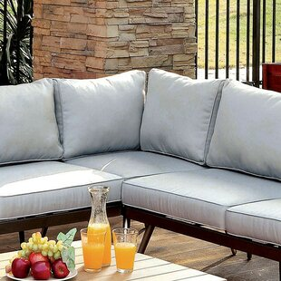 Cotton Patio Sectional with Cushions