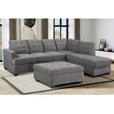 104.7 Right Hand Facing Sofa & Chaise with Ottoman by Latitude Run®