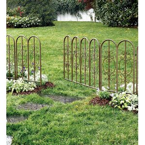 Montebello Decorative Iron Garden Short Fencing (Set Of