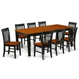 Mayur 9 Piece Extendable Solid Wood Dining Set by Winston Porter