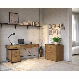 Ironworks Writing Desk and Filing Cabinet Set