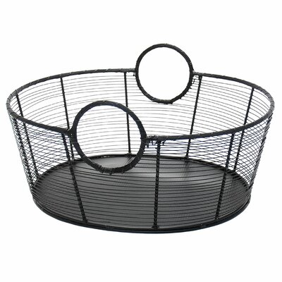 Gracie Oaks Nave Wrought Iron Basket Size: Small