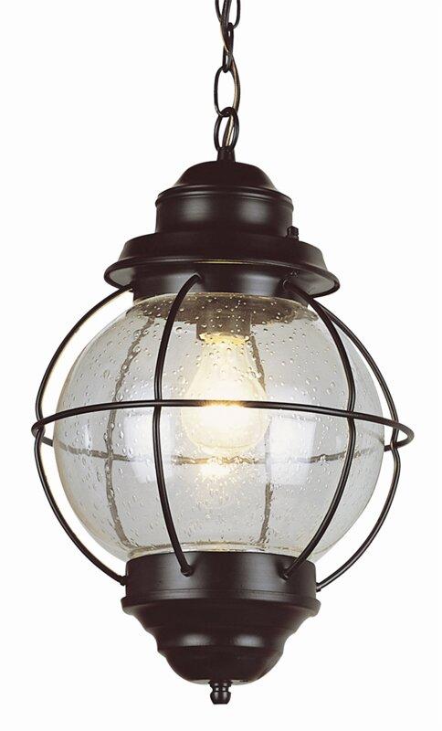 Beachcrest Home Ravenwood 1-Light Outdoor Hanging Lantern ...