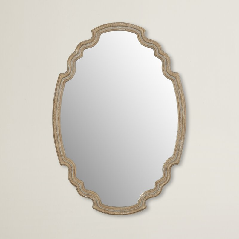 Wood Accent Wall Mirror