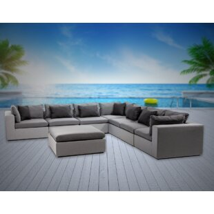 Malani 8 Piece Sunbrella Sectional Seating Group with Sunbrella Cushions