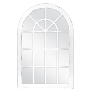 Charlton Home Firth Arched Windowpane Wall Accent Mirror
