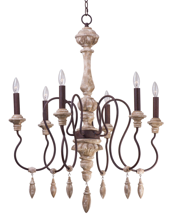 e Allium Way Valmer 6 Light Candle Style Chandelier & Reviews