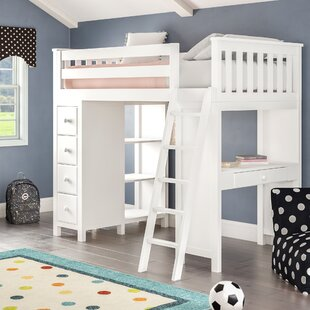 Ayres Twin Loft Bed with Drawers by Harriet Bee