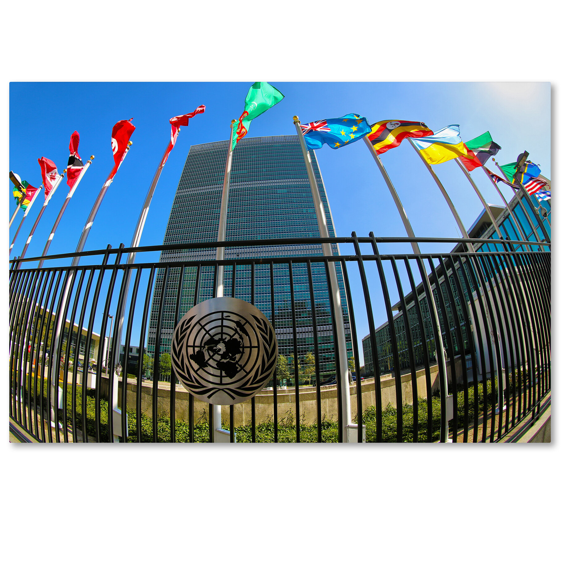 United Nations Dining Room: Trademark Art 'United Nations 1' By CATeyes Photographic