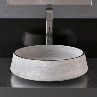 Aida Metal Circular Vessel Bathroom Sink by Maestro Bath