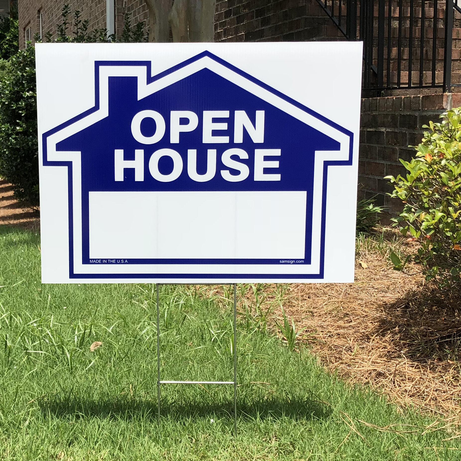 Addresses of Distinction Open House Sign Kit   Wayfair