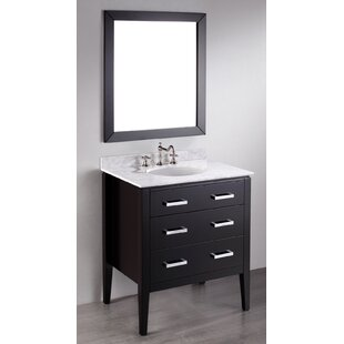 Hopewell 31 Single Bathroom Vanity Set with Mirror by Brayden Studio