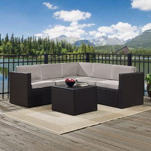 Belton 6 Piece Rattan Sectional Set with Cushions