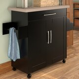 Crisfield Kitchen Cart by Charlton Home®