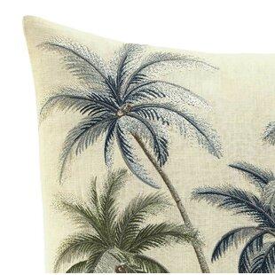 Serenity Palms Cotton Throw Pillow